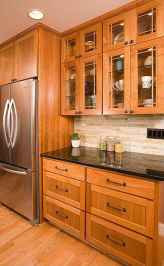 100 best oak kitchen cabinets ideas decoration for farmhouse style (76)