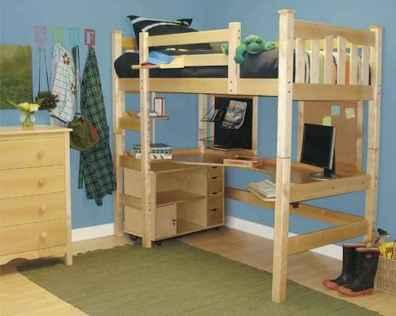 100+ cute loft beds college dorm room design ideas for girl (4)