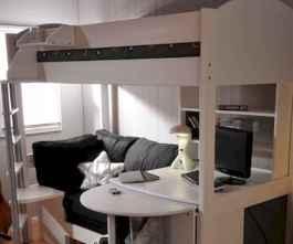 100+ cute loft beds college dorm room design ideas for girl (47)