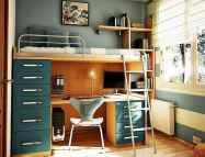 100+ cute loft beds college dorm room design ideas for girl (56)