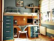 100+ cute loft beds college dorm room design ideas for girl (56)