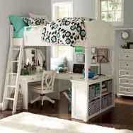 100+ cute loft beds college dorm room design ideas for girl (62)