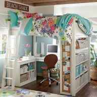 100+ cute loft beds college dorm room design ideas for girl (79)
