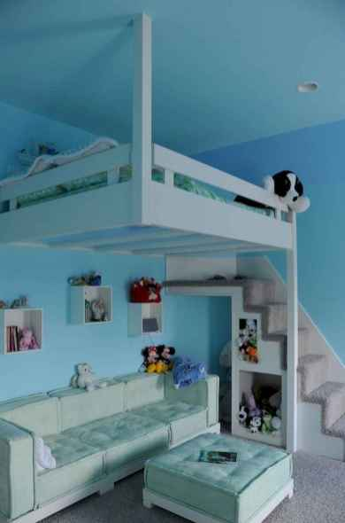 100+ cute loft beds college dorm room design ideas for girl (83)