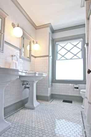 50 best farmhouse bathroom tile remodel ideas (26)
