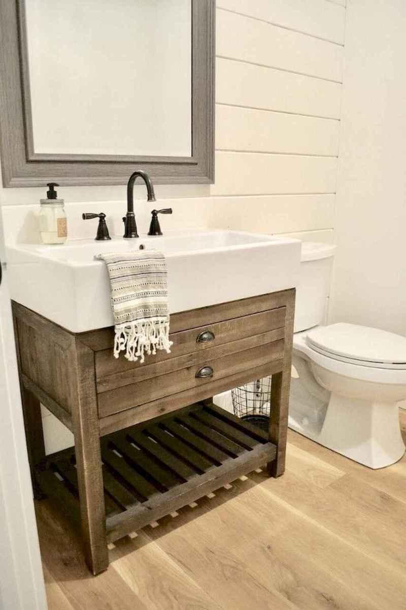 50 best farmhouse bathroom vanity remodel ideas (41)
