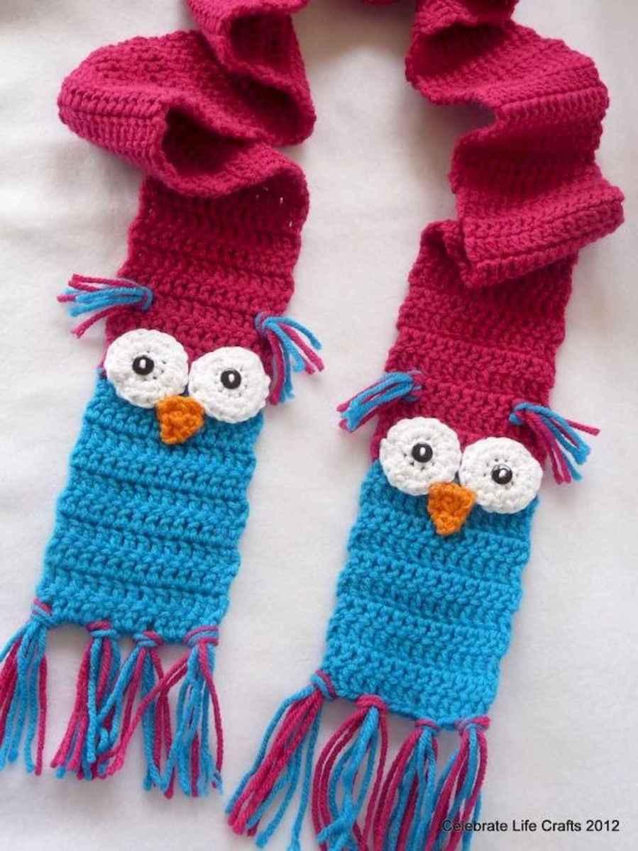 50 easy diy crochet animal scarf ideas for beginner (20)
