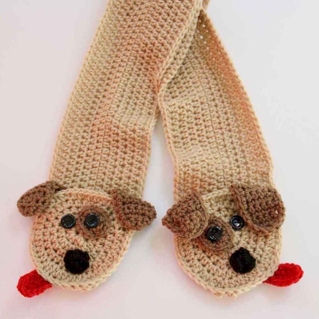 50 easy diy crochet animal scarf ideas for beginner (21)