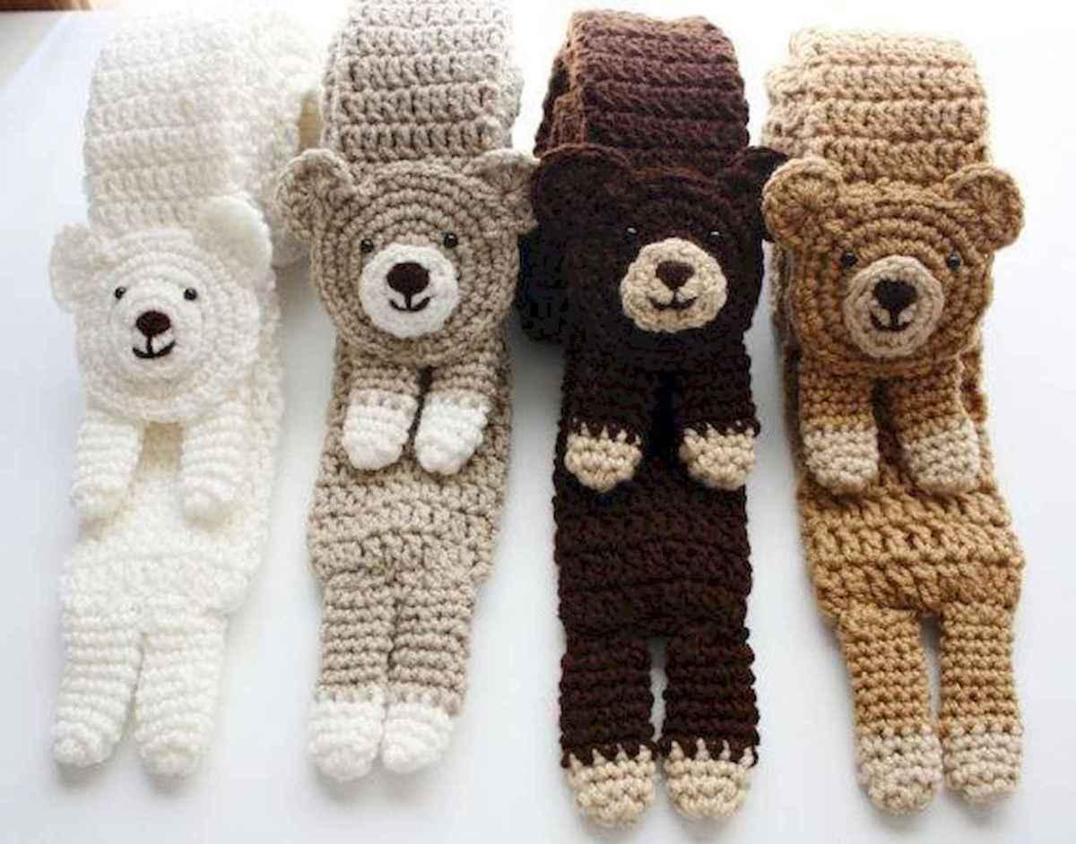 50 easy diy crochet animal scarf ideas for beginner (29)