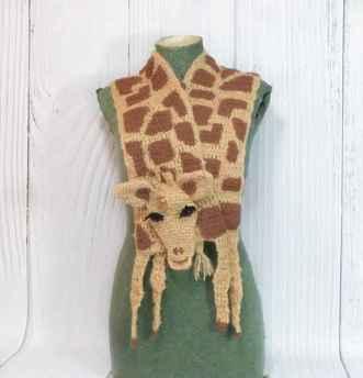 50 easy diy crochet animal scarf ideas for beginner (5)