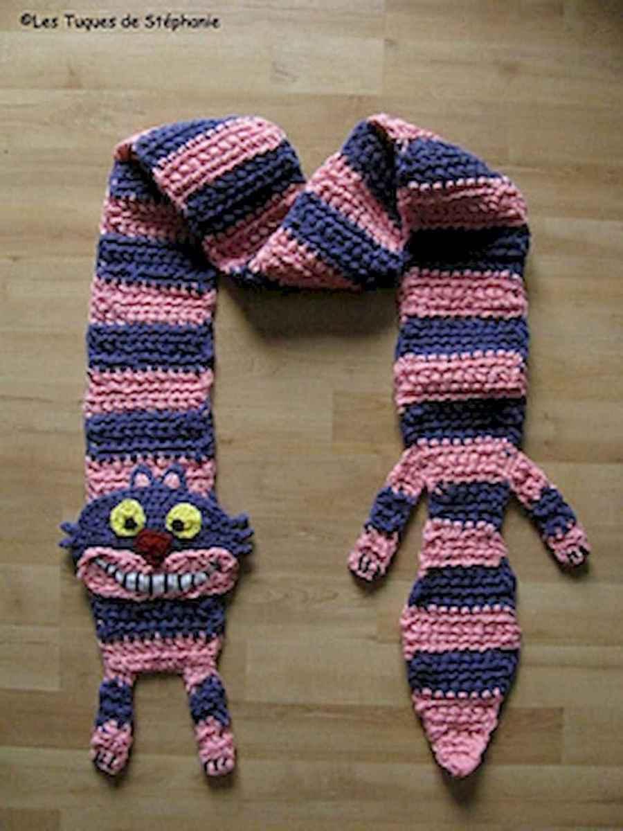 50 easy diy crochet animal scarf ideas for beginner (50)