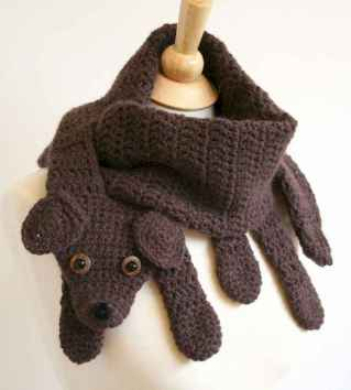 50 easy diy crochet animal scarf ideas for beginner (52)