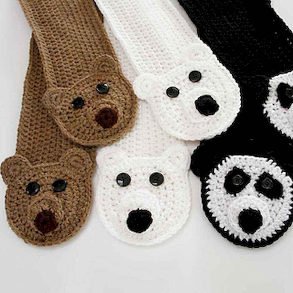 50 easy diy crochet animal scarf ideas for beginner (8)