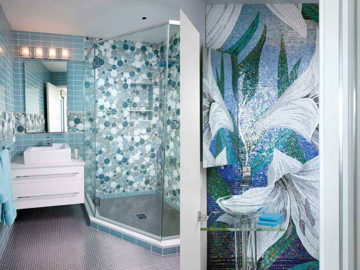 55 colorful and relax bathroom remodel ideas (46)
