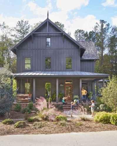 60 rustic farmhouse exterior decor ideas (48)