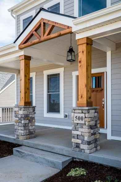 65 stunning farmhouse porch railing decor ideas (19)