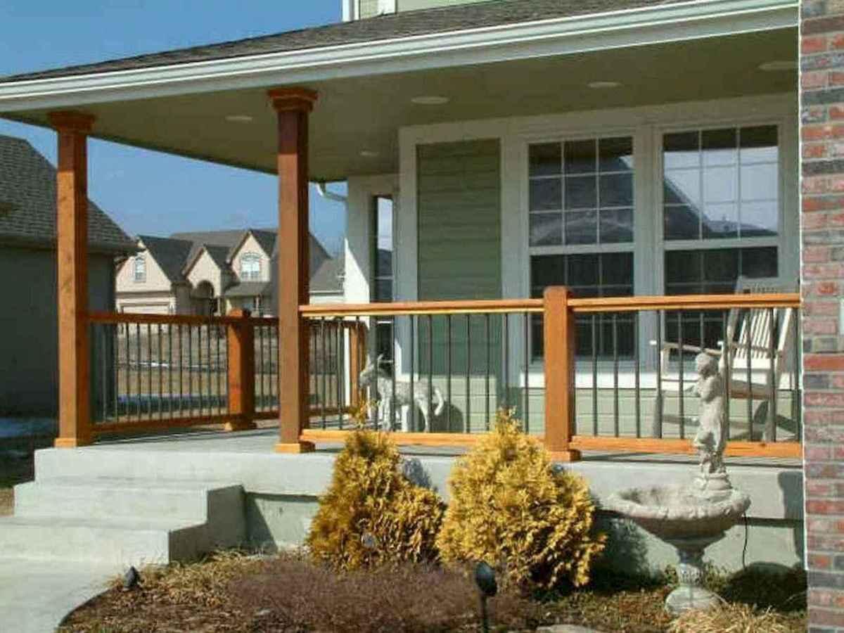 65 stunning farmhouse porch railing decor ideas (27)