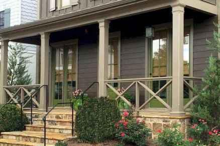 65 Stunning Farmhouse Porch Railing Decor Ideas 37