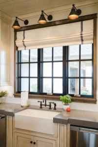 70 pretty farmhouse kitchen curtains decor ideas (57)