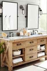 90 best lamp for farmhouse bathroom lighting ideas (14)