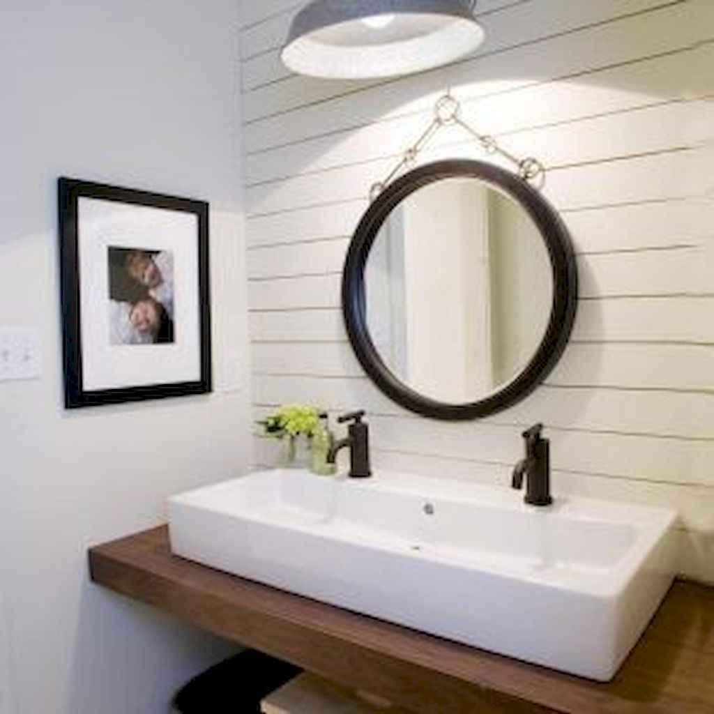 90 best lamp for farmhouse bathroom lighting ideas (20)