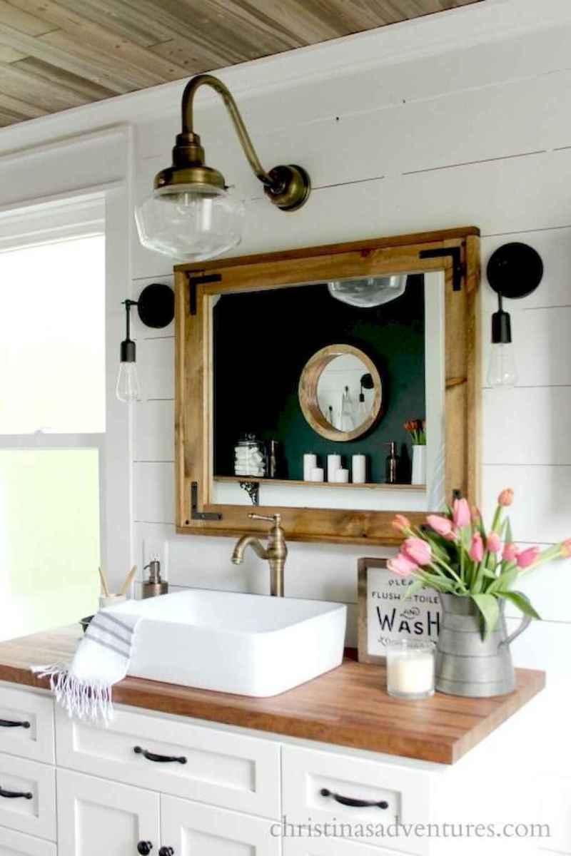 90 best lamp for farmhouse bathroom lighting ideas (74)