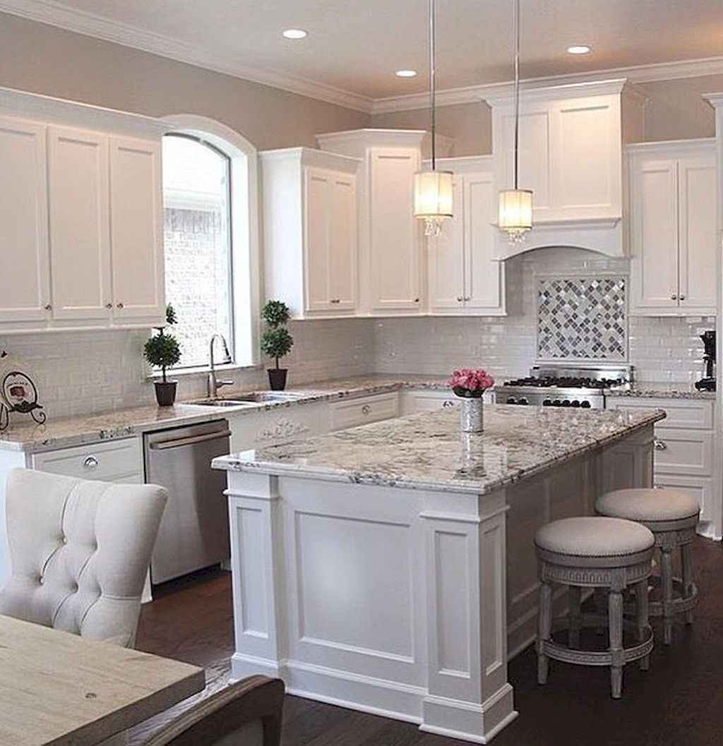 Ideas For Decorating Top Of Kitchen Cupboards: Best 100 White Kitchen Cabinets Decor Ideas For Farmhouse