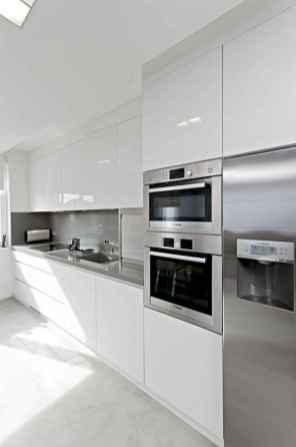 Best 100 white kitchen cabinets decor ideas for farmhouse style design (46)