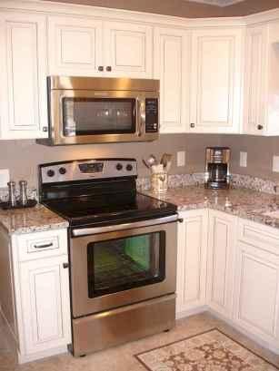 Best 100 white kitchen cabinets decor ideas for farmhouse style design (59)