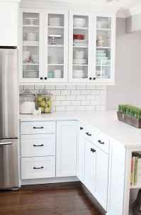 Best 100 white kitchen cabinets decor ideas for farmhouse style design (66)