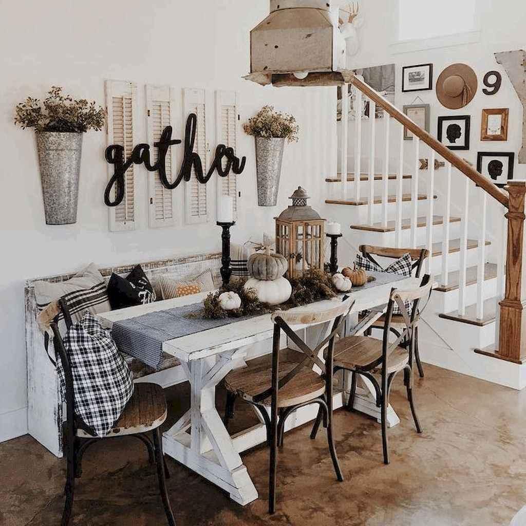 100 best farmhouse dining room decor ideas (165