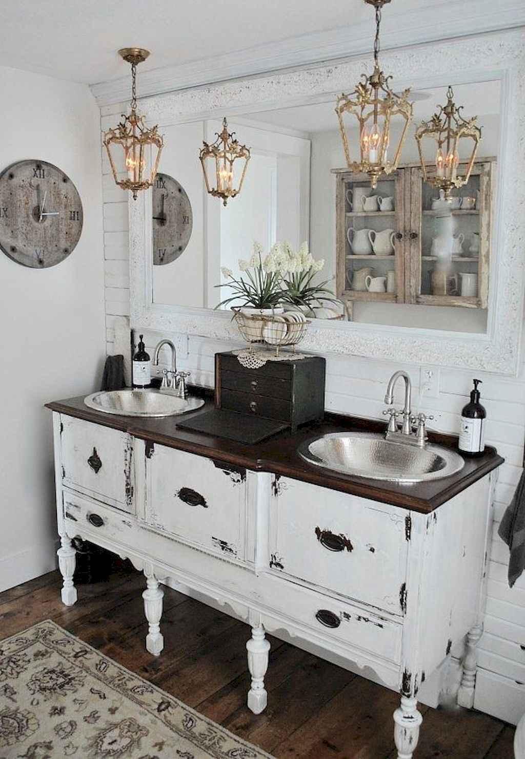 110 best farmhouse bathroom decor ideas (46)
