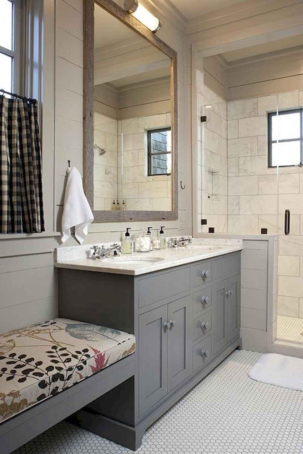 110 best farmhouse bathroom decor ideas (47)