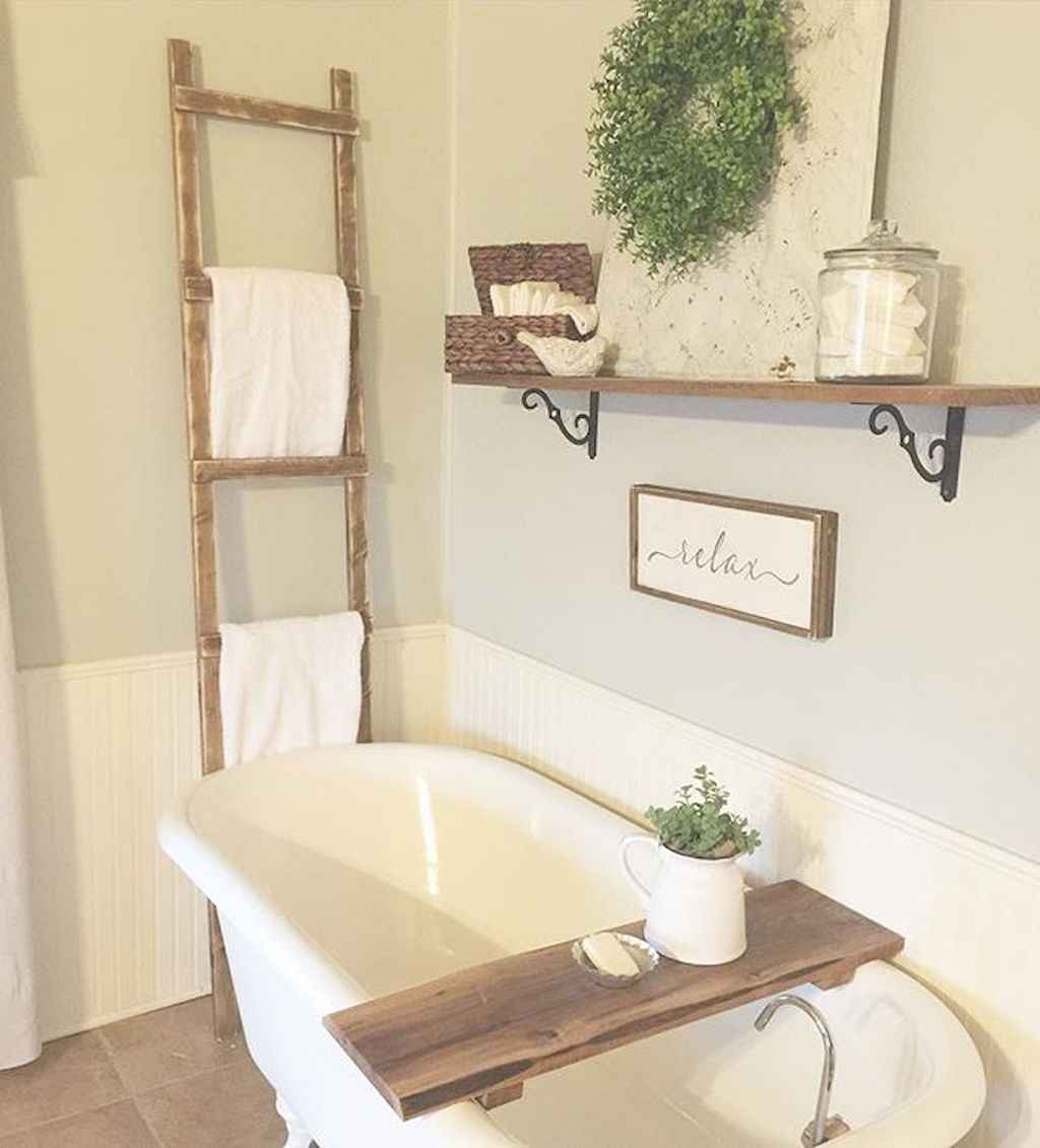 110 best farmhouse bathroom decor ideas (48)
