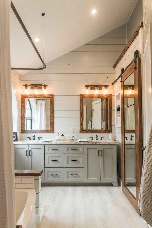 110 best farmhouse bathroom decor ideas (55)