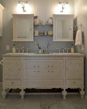 125 awesome farmhouse bathroom vanity remodel ideas (104)