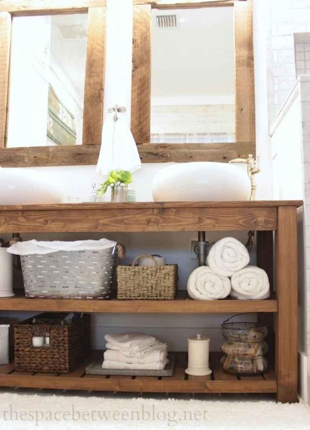 125 awesome farmhouse bathroom vanity remodel ideas (105)