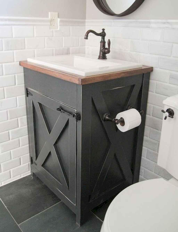 125 awesome farmhouse bathroom vanity remodel ideas (109)