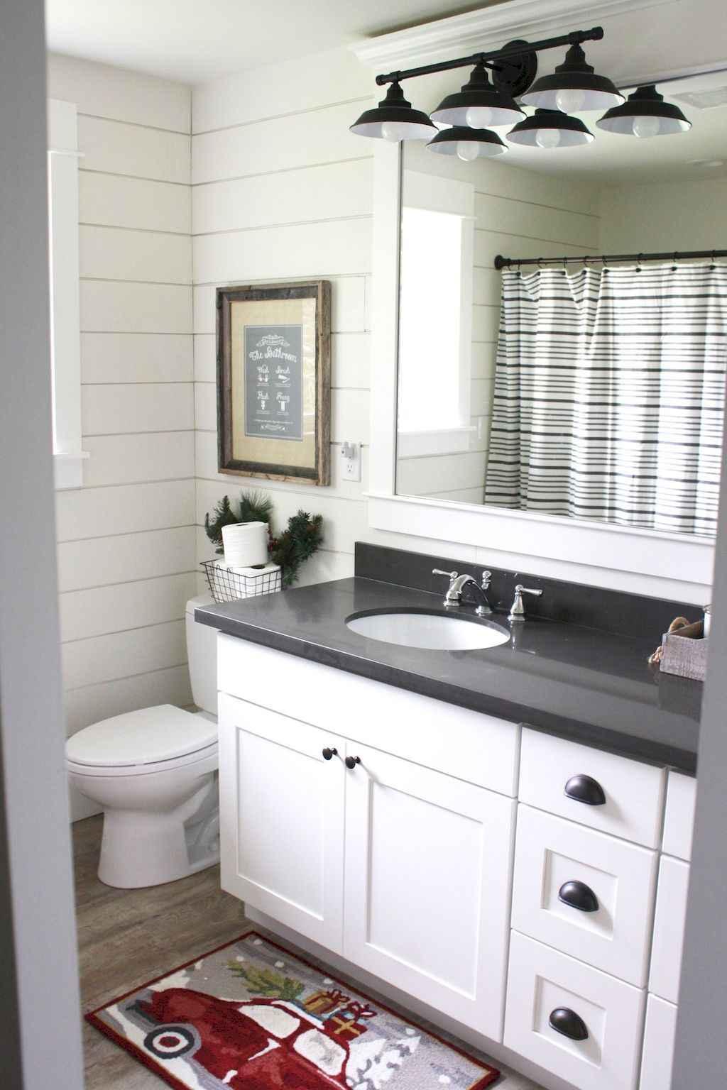 125 awesome farmhouse bathroom vanity remodel ideas (12)