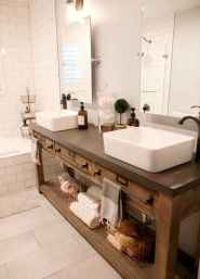 125 awesome farmhouse bathroom vanity remodel ideas (107)