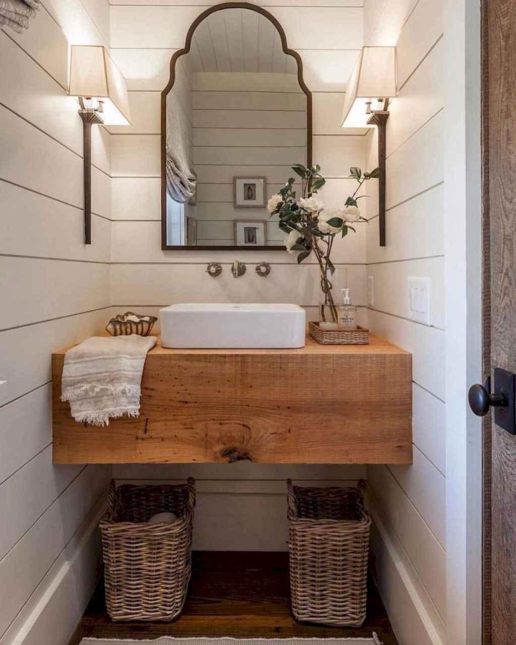 125 awesome farmhouse bathroom vanity remodel ideas (2)