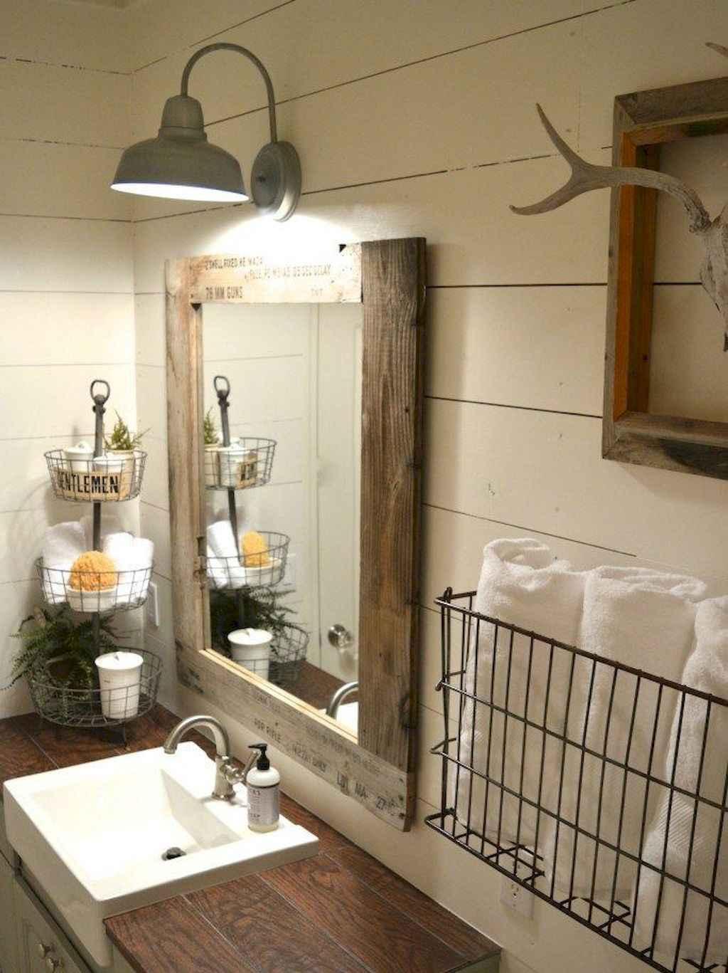 125 awesome farmhouse bathroom vanity remodel ideas (20)
