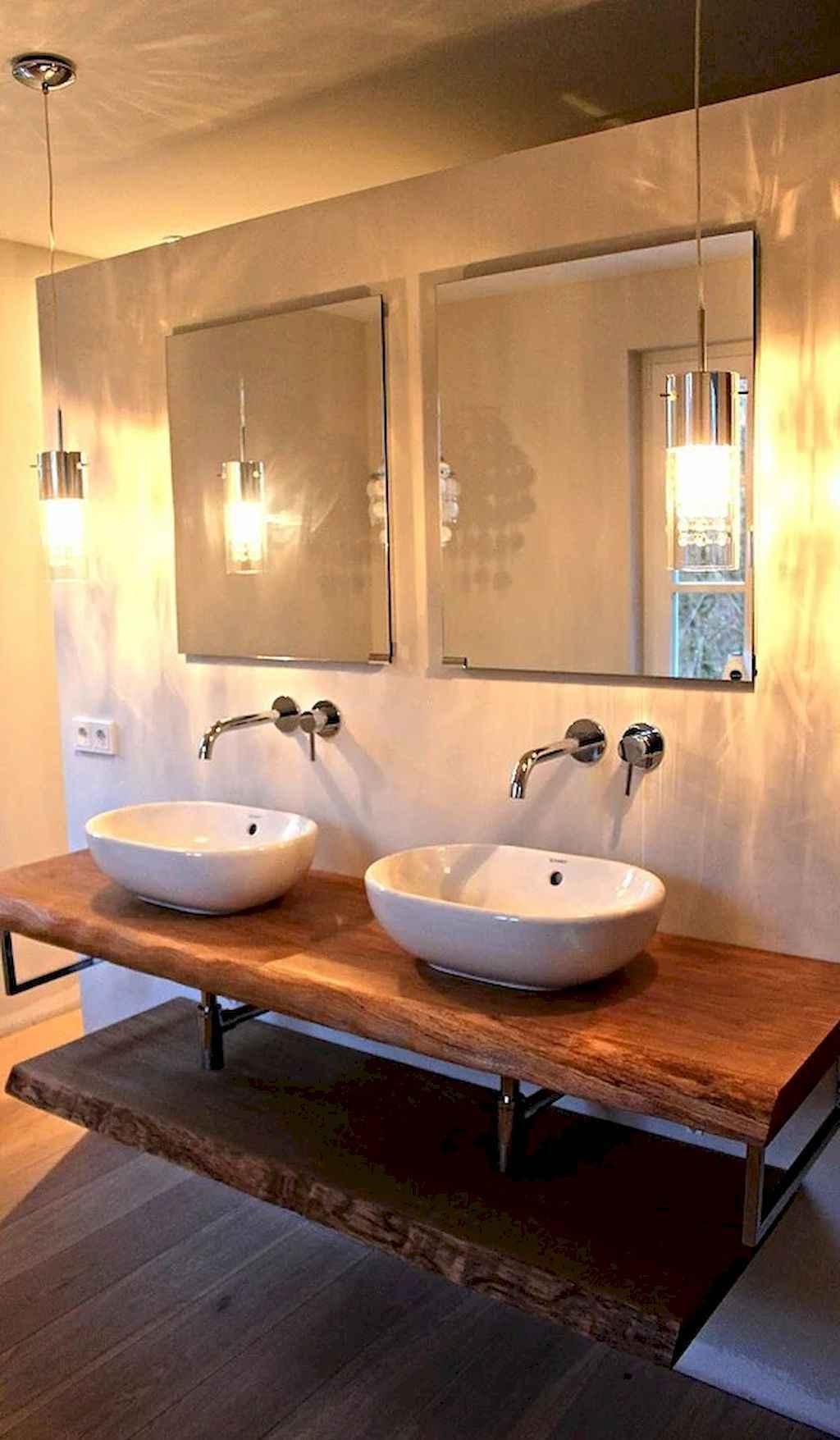 125 awesome farmhouse bathroom vanity remodel ideas (39)