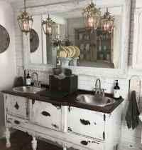 125 awesome farmhouse bathroom vanity remodel ideas (49)