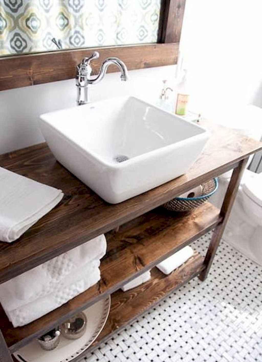 125 awesome farmhouse bathroom vanity remodel ideas (60)