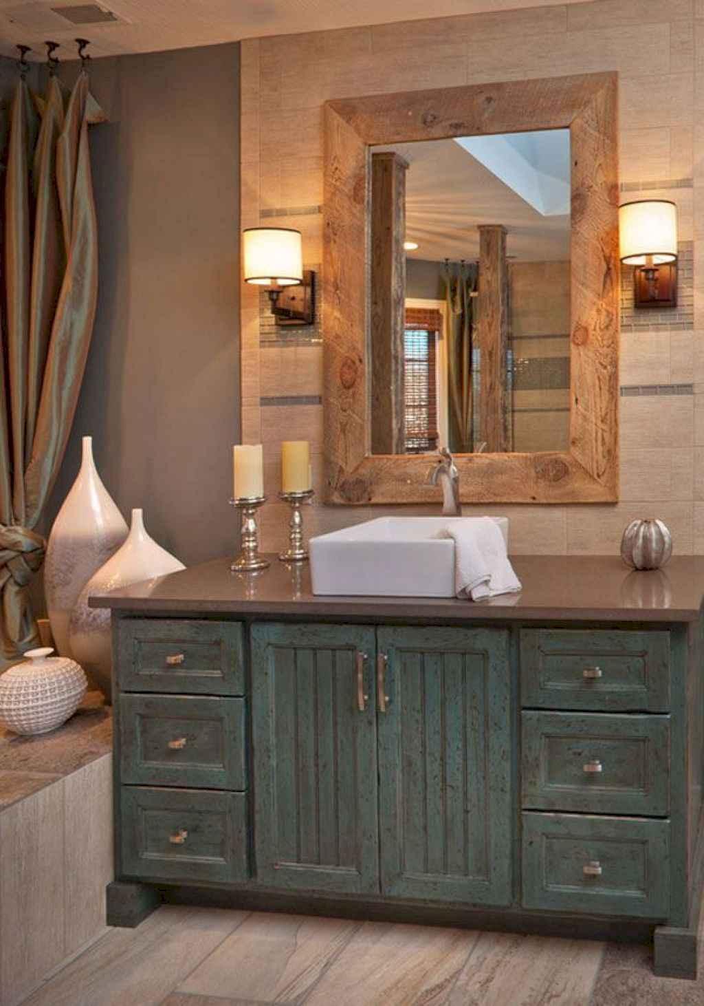 125 awesome farmhouse bathroom vanity remodel ideas (66)