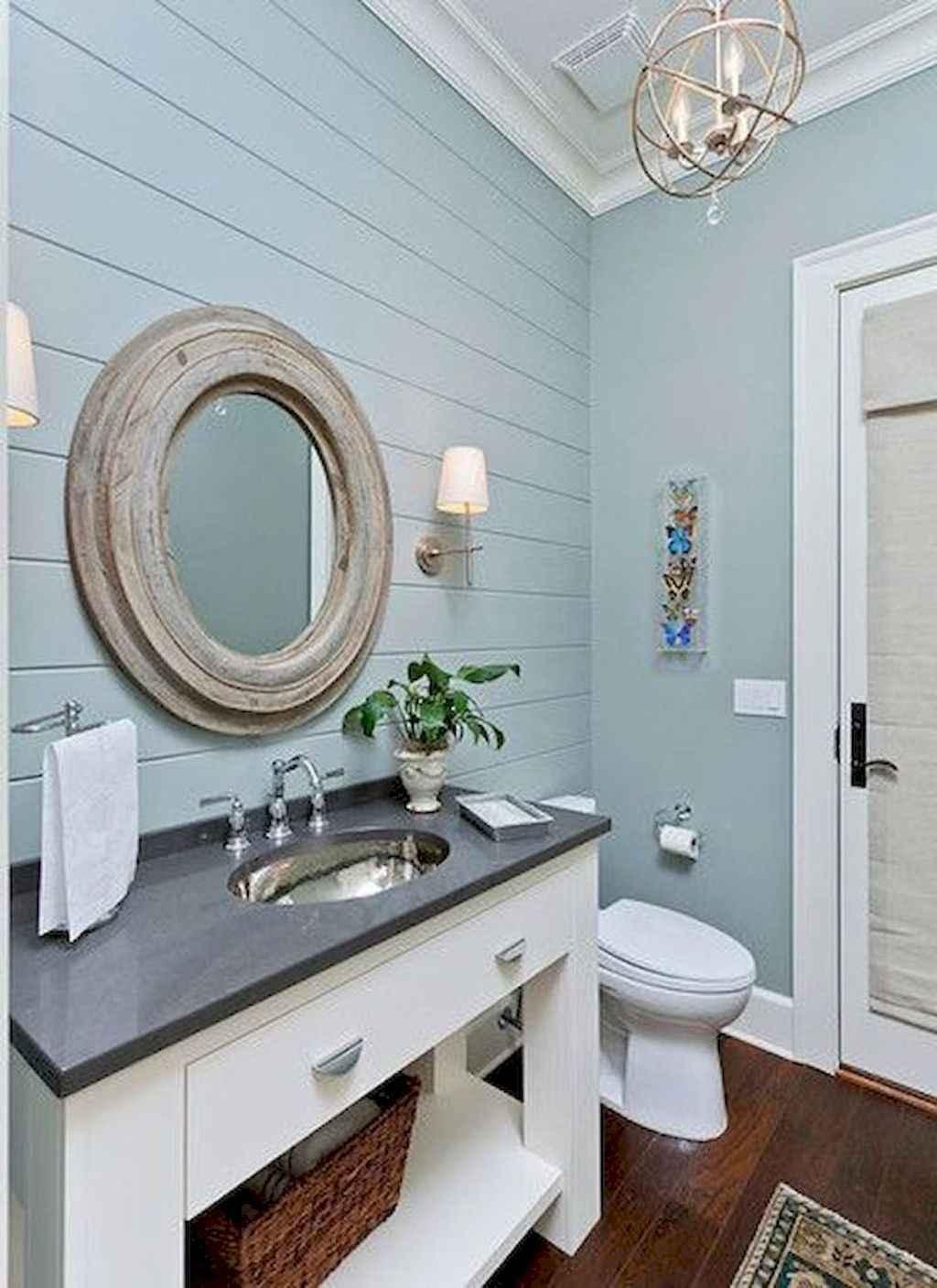 125 awesome farmhouse bathroom vanity remodel ideas (67)