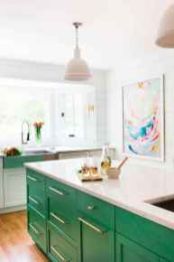 Best 40 colorful kitchen cabinet remodel ideas for first apartment (11)