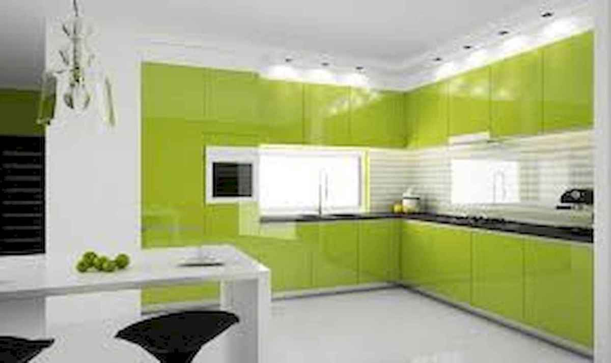 Best 40 colorful kitchen cabinet remodel ideas for first apartment (13)