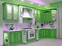 Best 40 colorful kitchen cabinet remodel ideas for first apartment (17)